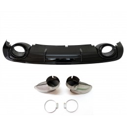 RS6 look diffuser for Audi A6 2008-2011