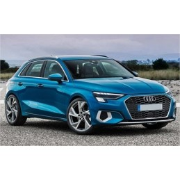 Grille for Audi A3 8V 2016-2019 look RS3 with ACC hole - Black varnished