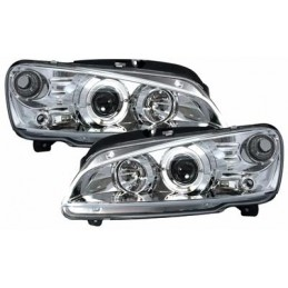 Front headlights angel eyes for Peugeot 106
