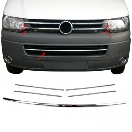 Wand of grille and grille bumper chrome 5 Pcs Set VW T5 aluminum transport