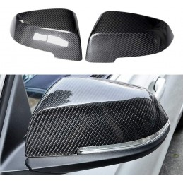 Pair covers carbon rearview...