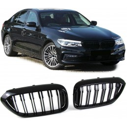 For G30 look black M5 5 series BMW grille painted grids