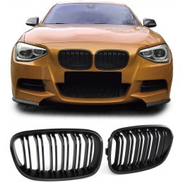 Grille grille look matte black M for BMW 1 Series F20 F21 LCI
