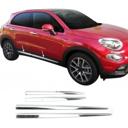 Chrome aluminum chrome lower wand for Fiat 500X