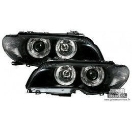 Angel eyes BMW E46 convertible after 2003 black Cup