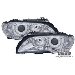 Angel eyes BMW E46 convertible after 2003 Chrome 346 Cup