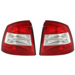Opel Astra G headlights rear red and white