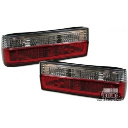 BMW E30 rear red white Crystal lights