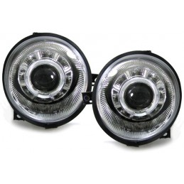 Headlights Angel eyes VW Lupo Chrome price fronts