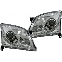 Front lights to leds Opel Vectra C chrome