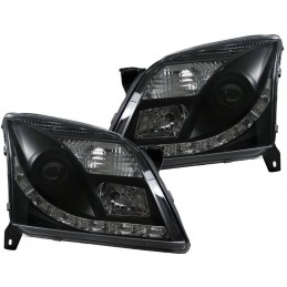 Opel Vectra C chrome tuning lights leds black front headlights
