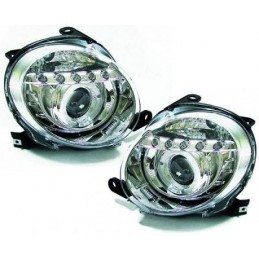 Front headlights led Fiat 500 chrome tuning